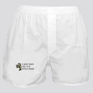History Repeats Dinosaur Pet Boxer Shorts