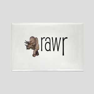 Dinosaurs Go Rawr Rectangle Magnet
