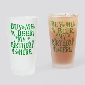 Buy Me a Beer Irish Birthday Drinking Glass