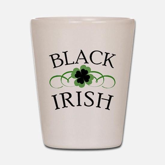 Black Irish with Fancy Shamrock Shot Glass