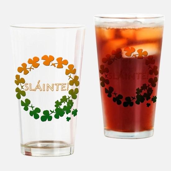 Slainte Irish Toast Drinking Glass