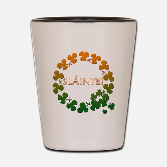 Slainte Irish Toast Shot Glass