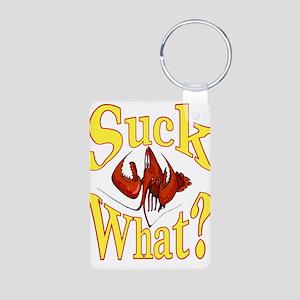 Suck What ? Crawfish Shirt Aluminum Photo Keychain