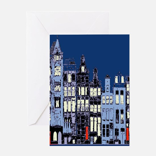 Amsterdam at Night Greeting Card