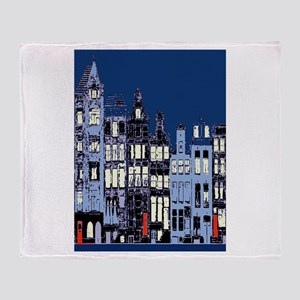 Amsterdam at Night Throw Blanket