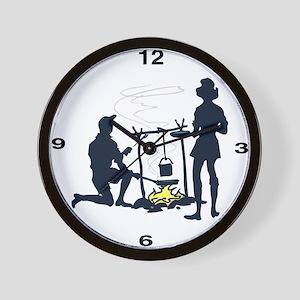 Camping Clock Wall Clock