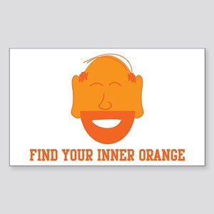 Mr. Tony Inner Orange Rectangle Sticker