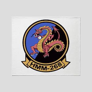 HMM-268 Flying Tigers Throw Blanket