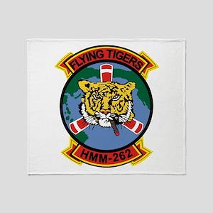 Hmm-262 Flying Tigers Throw Blanket