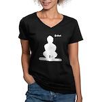 iOwl Women's V-Neck Dark T-Shirt