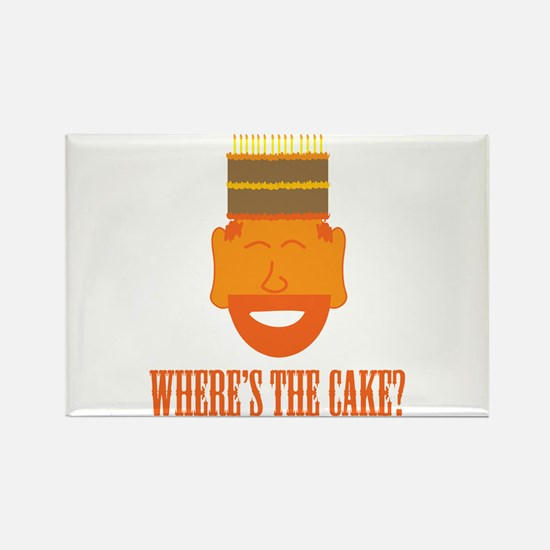 Where's the Cake? Rectangle Magnet