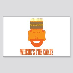 Where's the Cake? Rectangle Sticker