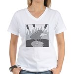 Rodney (no text) Women's V-Neck T-Shirt
