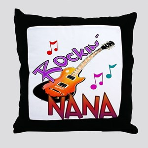 ROCKIN NANA Throw Pillow