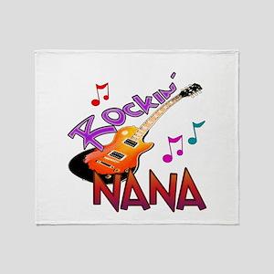 ROCKIN NANA Throw Blanket