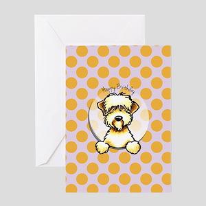 Funny Wheaten Terrier Birthday Greeting Card