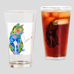 Summer Kitty Drinking Glass
