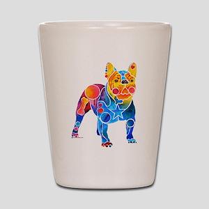 Whimsical French Bulldog Shot Glass