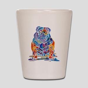 Whimsical English Bulldog Shot Glass