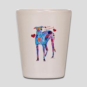 Love a Greyhound Shot Glass