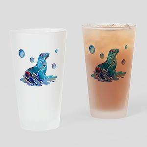 Sea Lion Art Drinking Glass