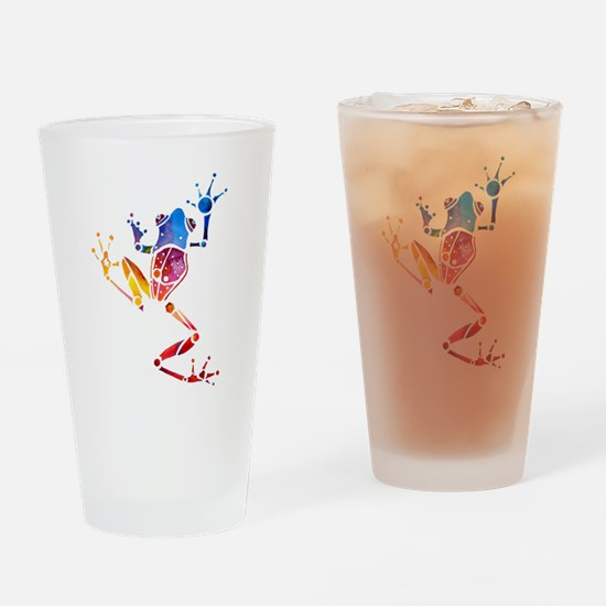 Tree Frog Bright Colors Drinking Glass