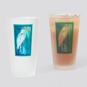 Heron Great Blue Drinking Glass