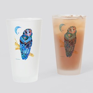 Whimsical Owl Drinking Glass