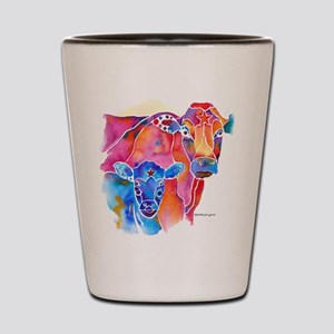 Cow and Calf Vivid Colors Shot Glass