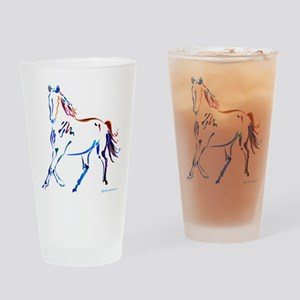 Horse of Many Colors Drinking Glass