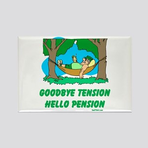 Hello Pension Boomer Rectangle Magnet