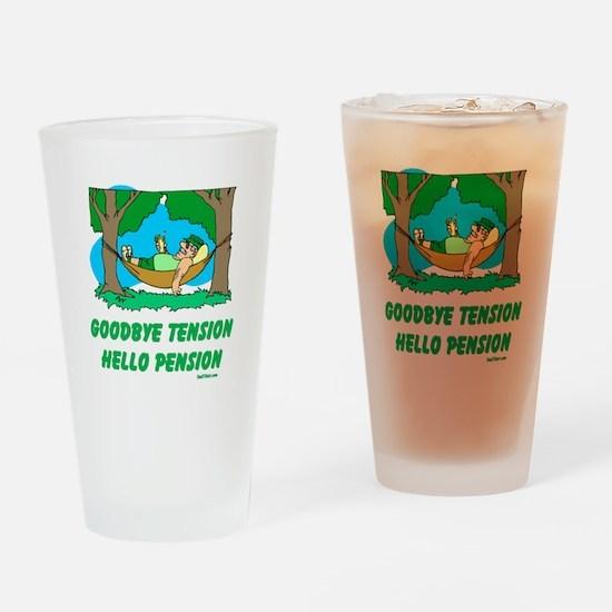Hello Pension Boomer Drinking Glass