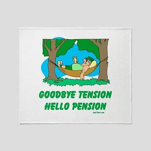 Hello Pension Boomer Throw Blanket