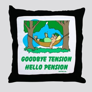 Hello Pension Boomer Throw Pillow