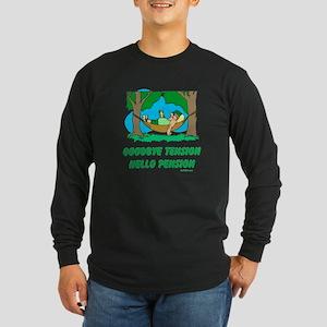 Hello Pension Boomer Long Sleeve Dark T-Shirt