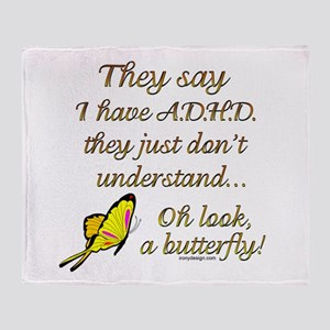ADHD Butterfly Throw Blanket
