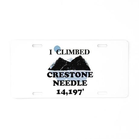 I Climbed CRESTONE NEEDLE t-s Aluminum License Pla