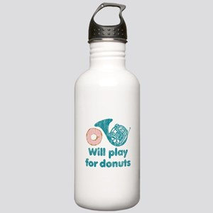 Will Play Horn for Donuts Stainless Water Bottle 1