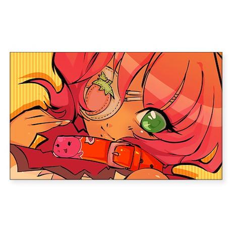 """Strawberry Eyepatch"" Sticker (Rectangle"