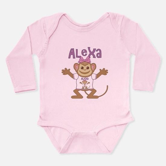Little Monkey Alexa Long Sleeve Infant Bodysuit