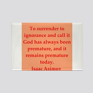 Isaac Asimov quotes Rectangle Magnet