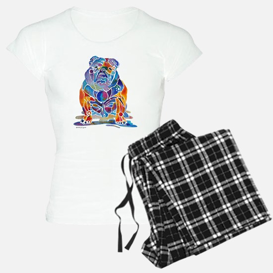 Whimsical English Bulldog Pajamas