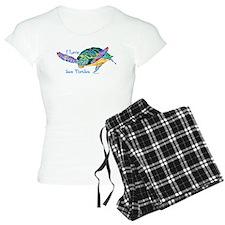 I Love Sea Turtles 2 Women's Light Pajamas