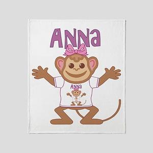 Little Monkey Anna Throw Blanket