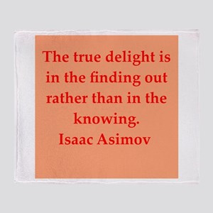Isaac Asimov quotes Throw Blanket