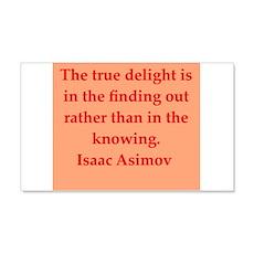 Isaac Asimov quotes 22x14 Wall Peel