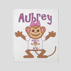 Little Monkey Aubrey Throw Blanket