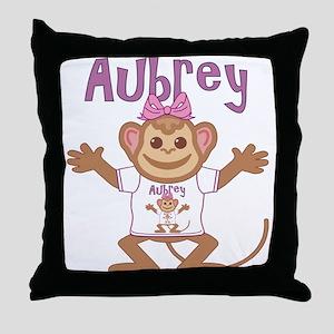 Little Monkey Aubrey Throw Pillow