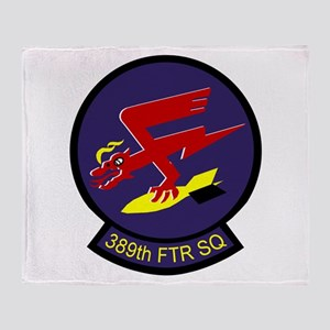 F-16 389th Fighter SQ Throw Blanket