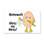 Homework Car Magnet 20 x 12